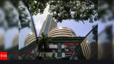 Photo of Sensex today: Sensex tumbles 341 points on weak global cues, Nifty ends below 14,900 | India Business News