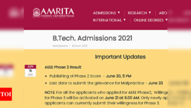 Photo of AEEE Phase 2 result 2021 to be declared today at aoap.amrita.edu